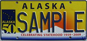 Sample License Plates Division Of Motor Vehicles Department Of Administration State Of Alaska